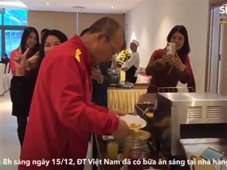 Bữa sáng thanh đạm với rau luộc của đội tuyển Việt Nam trước thềm trận chung kết tối nay