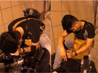 Chờ vợ cả đêm, chồng Lê Phương bị phát hiện ngủ gục bên đường