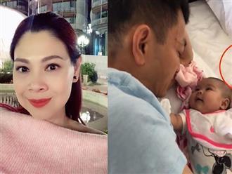 Mẹ một con Thanh Thảo rảnh rang livestream, còn chồng thì bù cổ bù đầu với bỉm sữa