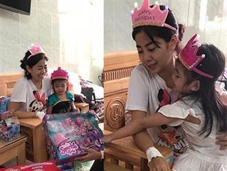 Mai Phương gượng dậy tổ chức sinh nhật cho con gái trong bệnh viện