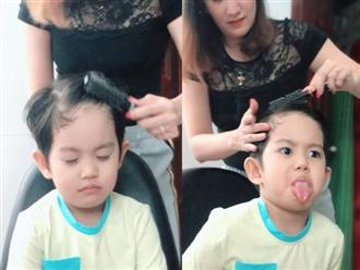 Được mẹ làm tóc cho, con trai 3 tuổi của Khánh Thi biểu cảm vô cùng đáng yêu