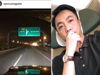 Cường Đô la lại gây sốt với hình ảnh lái xe trên đường phố Lạng Sơn, bi nghi đang đi hỏi vợ