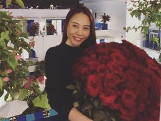 Đàm Thu Trang nhận bó hoa hồng khổng lồ vẫn lên tiếng trách móc Cường Đô la