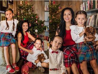 Hồng Nhung đón Giáng sinh bình yên bên hai con mà không có sự hiện diện của chồng cũ
