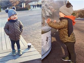 Loạt ảnh con trai Khánh Ly - Mạc Hồng Quân ở Hàn Quốc gây sốt vì quá đáng yêu