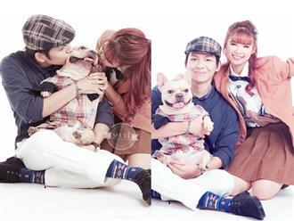 Bộ ảnh cưới 'lầy lội' bên chó cưng của Kelvin Khánh - Khởi My gây sốt vì quá bá đạo