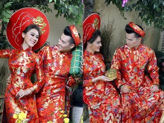 Vợ chồng Lâm Khánh Chi đón Tết hoành tráng với bộ ảnh chào xuân độc và lạ