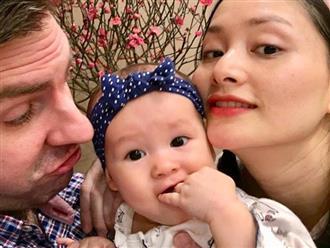 Lan Phương đón Tết hạnh phúc bên chồng và con gái xinh như thiên thần