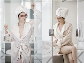 Lý Nhã Kỳ khép hờ áo choàng tắm, khoe vẻ sexy 'đốt mắt' trong khách sạn 45.000 euro/1 đêm