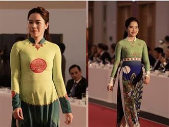 Tưởng đã giảm 8 cân, Nam Em đột nhiên lộ eo to dáng phình khi diện áo dài