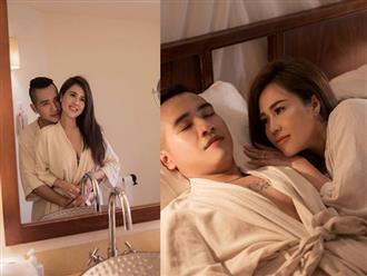 Chị gái Ngọc Trinh công khai loạt ảnh trăng mật táo bạo với chồng trẻ từ giường ngủ đến phòng tắm