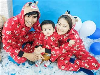 Thanh Bình - Ngọc Lan không ngại 'hóa trẻ con' để chụp ảnh cùng con trai