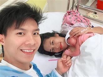 Vợ chồng 'hoàng tử xiếc' Quốc Nghiệp sung sướng khi đón con gái chào đời