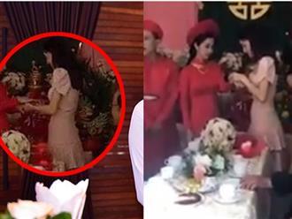 Clip Nhã Phương lộ vòng bụng to bất thường trong đám cưới em gái, nghi vấn được đẩy lên đỉnh điểm