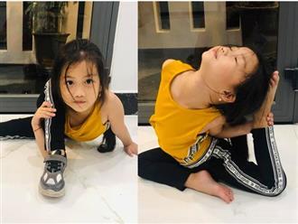 Ốc Thanh Vân khoe con gái uốn dẻo như nghệ sĩ xiếc khiến ai nấy đều trố mắt ngạc nhiên