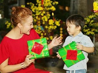 Phi Thanh Vân kín như bưng khi dắt con trai đi làm từ thiện dịp cuối năm