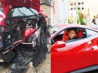 Sốc: Siêu xe 16 tỷ của Tuấn Hưng gặp tai nạn nghiêm trọng, đầu xe nát bét khiến nhiều người hoang mang