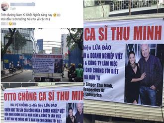 Sốc: Chiếc ô tô lạ chở hình ảnh vợ chồng Thu Minh đi khắp đường phố Sài Gòn, tố chồng nữ ca sĩ lừa đảo