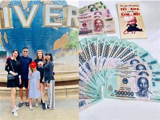 Con gái Thủy Tiên mang hết tiền lì xì phân phát cho người nghèo