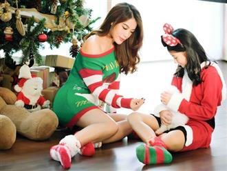 Bốn năm sau ly hôn, Trương Ngọc Ánh khoe vẻ gợi cảm bên con gái cưng mùa Giáng sinh