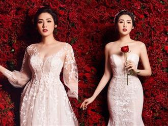 Ngắm Á hậu Tú Anh đẹp xuất thần trong bộ váy cưới 3 tỷ đính 200 viên kim cương