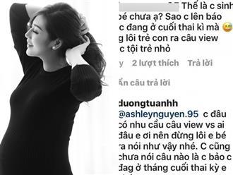 Bị chỉ trích cố tình 'lôi con trai ra câu view', Á hậu Tú Anh đáp trả cực gắt