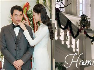 Chồng hơn 16 tuổi của Á hậu Thanh Tú gây sốt khi làm điều này cùng vợ trong biệt thự tiền tỷ