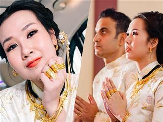 Ghen tỵ với loạt ảnh Võ Hạ Trâm đeo vàng nặng nhức cả cổ và tay trong ngày kết hôn với chồng Ấn Độ