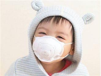 Chuyên gia khuyến cáo không nên đeo khẩu trang vải cho trẻ dưới 2 tuổi