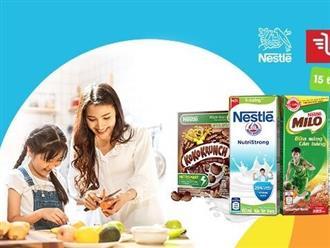 Mua một đơn hàng, siêu lời ưu đãi toàn gian hàng Nestlé trên Shopee