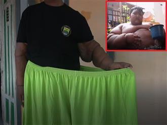 Cân nặng gần 200kg, nam thiếu niên thân hình như đá tảng giảm cân chỉ còn 87 kg, da nhăn nhúm khiến CĐM choáng váng