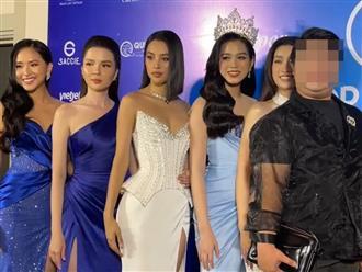 Lộ clip nghi vấn khách mời 'kém duyên' chen ngang Hoa hậu Đỗ Mỹ Linh trên thảm đỏ, cư dân mạng bức xúc