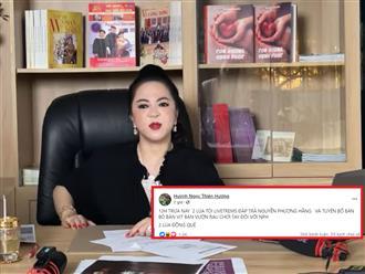 Huỳnh Ngọc Thiên Hương tuyên bố 'bán bò' chơi tay đôi với bà Phương Hằng, CDM lên tiếng: 'Tội nghiệp bà Hằng kết bạn với những kẻ đâm sau lưng, thừa lúc hoạn nạn rủ nhau câu kết phá hoại'