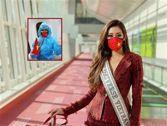 Hoa hậu Khánh Vân lên đường sang Mỹ thi Miss Universe, trang phục gây chú ý