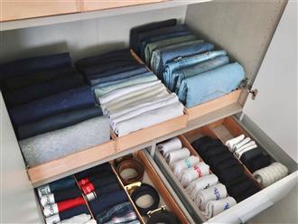 Trai đảm mách cách tự làm hộp đựng quần áo nhanh, gọn giúp tủ đồ luôn ngăn nắp, ai không biết phí cả đời