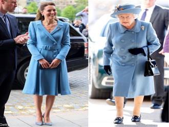 Nhìn những lần Công nương Kate diện đồ hao hao Nữ hoàng Anh, dân tình khen cô đã rất ra dáng Hoàng hậu tương lai