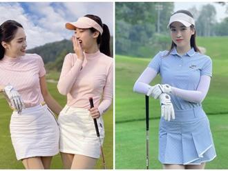 Thời trang sân golf dàn mỹ nhân Việt: Hương Giang vừa tái xuất có 'đè bẹp' Đỗ Mỹ Linh, MC Mai Ngọc?