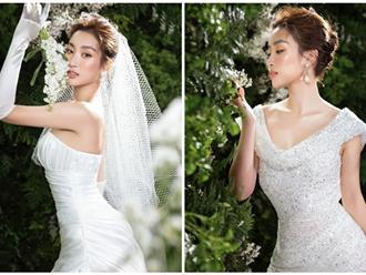 Hoa hậu Đỗ Mỹ Linh hóa 'nàng thơ' khi diện váy cưới