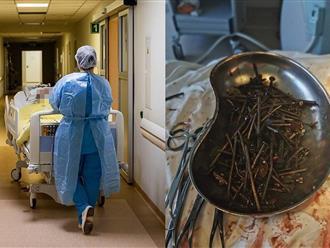 Cư dân mạng 'trợn tròn mắt' trước cuộc phẫu thuật lấy hơn 1kg đinh, ốc vít trong dạ dày của một người đàn ông