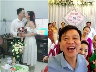 Đám cưới mùa dịch 'có một không hai' ở phòng trọ, quan viên hai họ 'tới' dự online