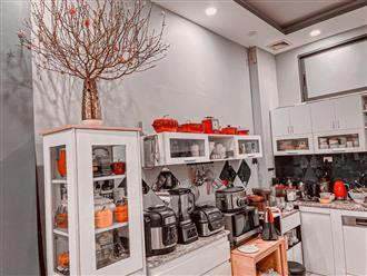 'Đã con mắt' trước căn bếp sang chảnh của người đẹp Hà Thành 'tiện nghi đầy đủ, cái gì cũng có'
