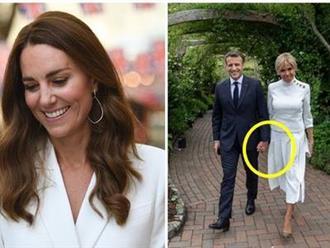 Đệ nhất phu nhân Pháp - Brigitte Macron bất ngờ 'chiếm sóng' bởi hành động nắm tay chồng kém 25 tuổi không rời