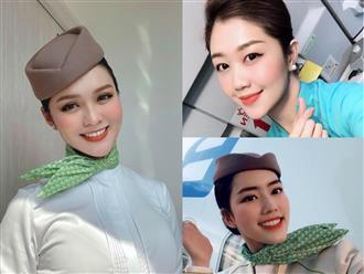 'Đổ xiêu đổ vẹo' trước 3 nàng tiếp viên hàng không xinh hơn hot girl, đi làm thì khí chất hơn người, đi 'đua đưa' thì cũng rất sexy và này nọ