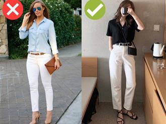 Kiểu quần trắng chị em đừng mua kẻo phí tiền, diện lên kém sang và lộ nhược điểm vóc dáng