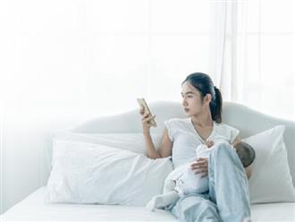 3 tác hại ảnh hưởng trực tiếp đến con nếu mẹ sau sinh dùng điện thoại