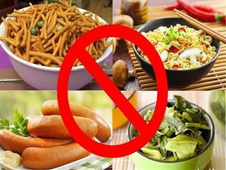 Muốn sống trường thọ không nên đụng đũa vào 4 món ăn này