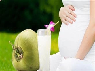 Những lợi ích tuyệt vời của nước dừa đối với mẹ bầu