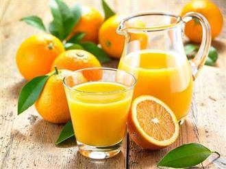 Nước cam rất tốt cho sức khỏe nhưng 3 thời điểm này được khuyến cáo không nên uống
