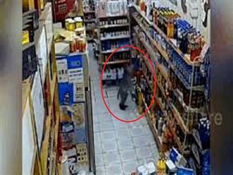 Con khỉ ranh mãnh LẺN vào cửa hàng TRỘM chai sữa chua rồi nhanh chóng TẨU THOÁT trước sự hoang mang của chủ tiệm