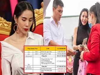 Công khai bằng chứng làm từ thiện, Công Vinh để lộ số tiền mà vợ đã âm thầm đóng góp để cứu trợ miền Trung